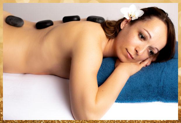 Massage aux pierres de lave