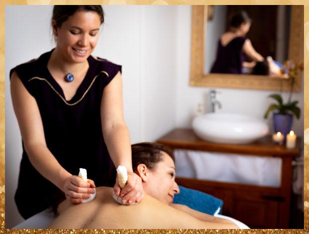Massage balinais aux pochons